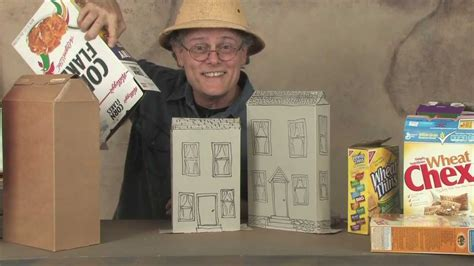 how do you make a house how to make cereal box houses youtube