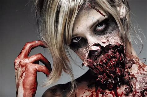 zombie yourself tutorial best halloween make up tutorials daily star