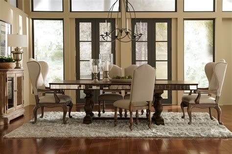 pulaski dining room set accentrics home desdemona accentrics home alekto rectangular dining room set from