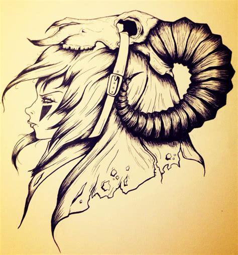 cartoon ram tattoo ram skull warrior by unicornkiddo on deviantart