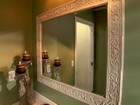 frame an existing bathroom mirror bathroom mirror frames diy for the home pinterest