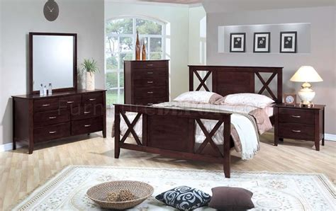 Cappuccino Bedroom Furniture by Cappuccino Finish Bedroom Set