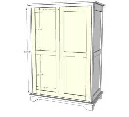 diy how to build an armoire plans free