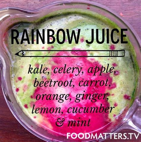 Hungry For Change Detox Smoothie by Rainbow Juice Recipe Www Hungryforchange Tv Beverages