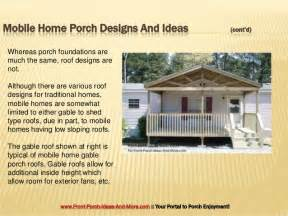 designs for homes porch design ideas for mobile homes