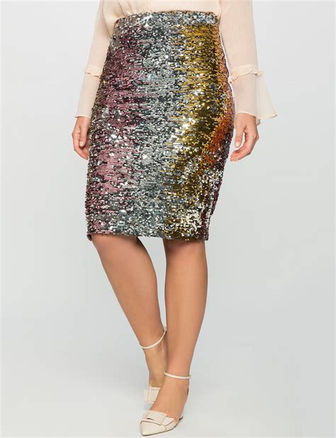 studio variegrated sequin column skirt eloquii