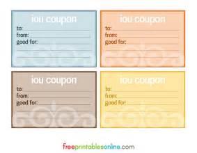 iou template printable iou voucher search results calendar 2015