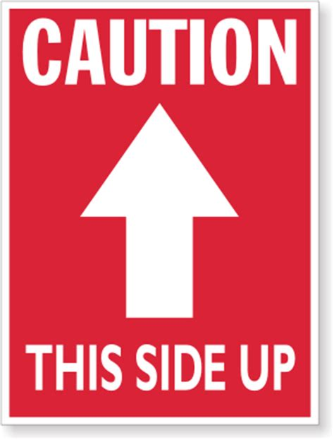 shipping label this side up 4 in x 3 in caution this side up labels sku d1463