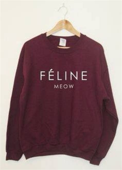 Baggy Meow feline meow sweater cat swag dope trill shirt baggy