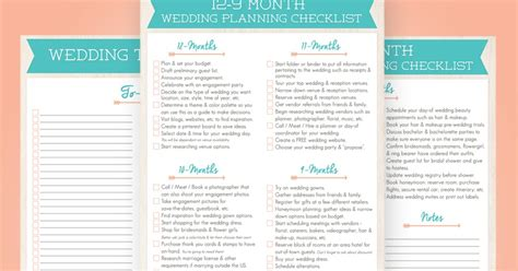Wedding Guide Checklist Free by Wayfaring Wanderer 12 Month Wedding Planning Checklist