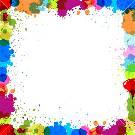 cool white frame added colorful pictures as custom colorful splash frame royalty free stock image storyblocks