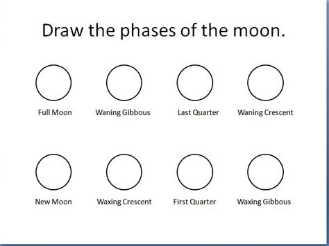 Moon Phases Worksheet by All Worksheets 187 Moon Phases Worksheets Printable