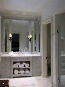 Double Wide Bathroom Mirror by Light Gray Vanity Transitional Bathroom Litchfield