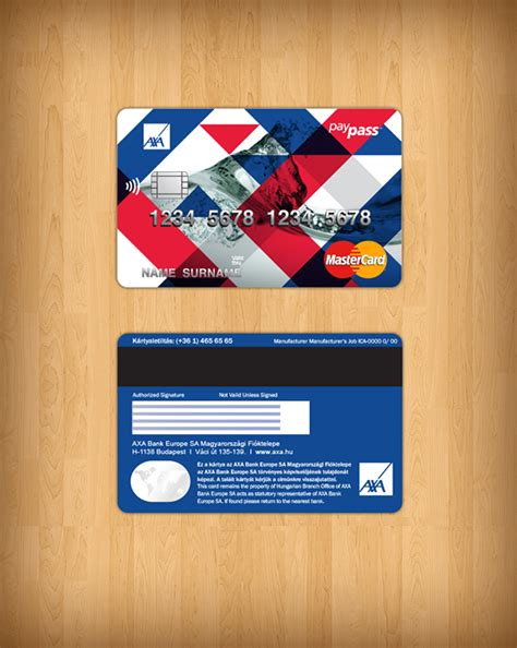 Design Credit Card Template by Mastercard Design On Behance
