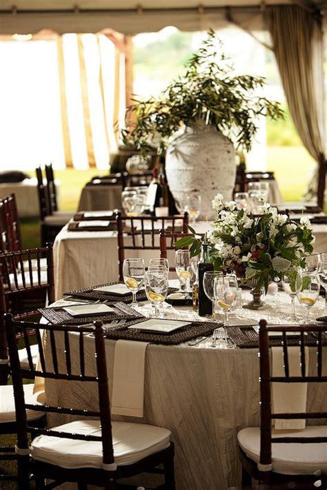 elegant reception table settings elizabeth anne designs elegant brown white green tented wedding reception