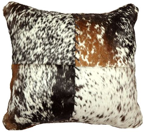 How To Turn Cowhide Into Leather - speckled hair on hide stitched pillow for the home