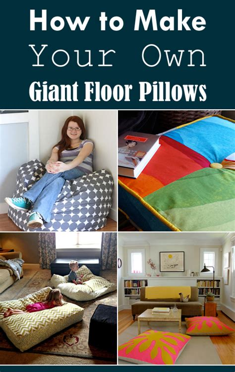 Make Your Own Floor Pillows by How To Make Your Own Floor Pillows