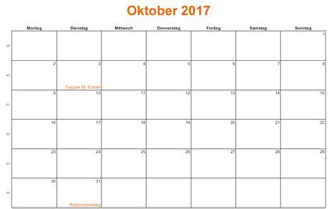 Calendar October 2017 Doc Monatskalender Oktober 2017 Kalender 2016 Pdf Excel