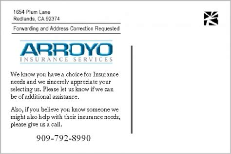 Insurance Thank You Letter To Client Insurance Business Thank You Postcards Help Businesses