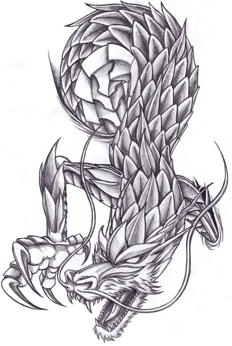 chinese dragon design by robertfiddler on deviantart