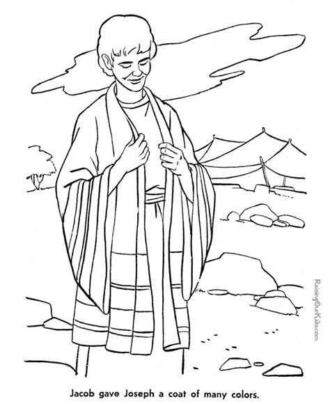 free josephs coat coloring pages