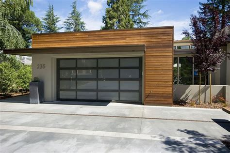 contemporary garage mid century modern garage doors garage and shed