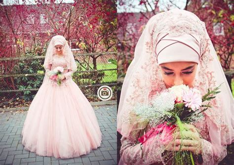 warna pink moslem pink wedding dress pink moslem wedding dress gaun muslim bride in light pink tesett 252 r gelinlik hijab