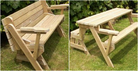 easy simple topic diy folding picnic table bench