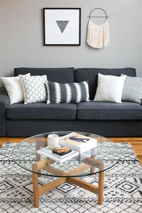 Black  Gray Living Rooms  Color Rug