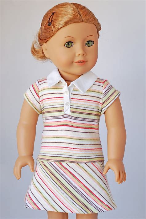 shirt pattern for american girl doll american girl doll clothes pattern polo shirt dress