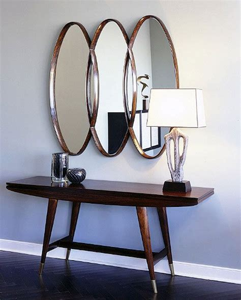 foyer mirror foyer mid century modern vibe the oval mirror and