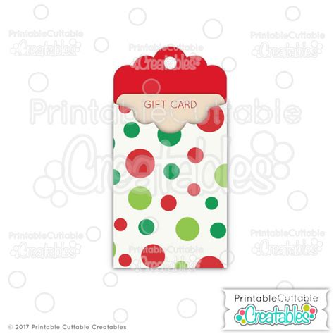 cricut gift card holder template tag gift card holder free svg file for