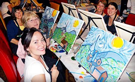 groupon paint nite portland or wine and canvas san francisco bay area up to 31