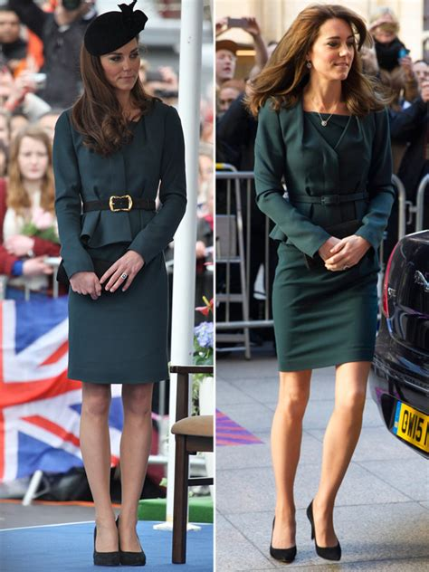 Were The Same But One Wears A Skirt by Kate Middleton S Icap Charity Day Dress Recycles Green