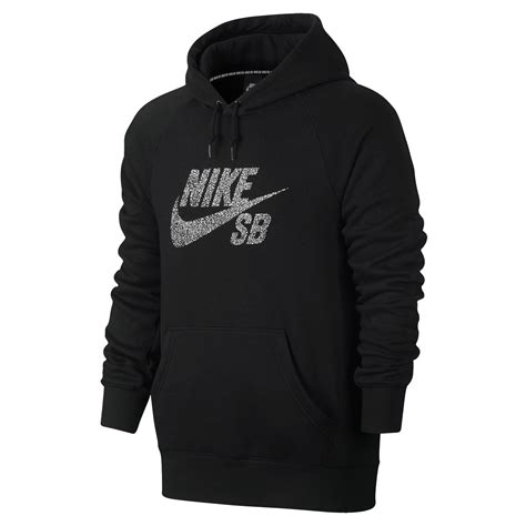 Nike Hoddie Text Black nike sb icon dots hoodie black white snowboard zezula
