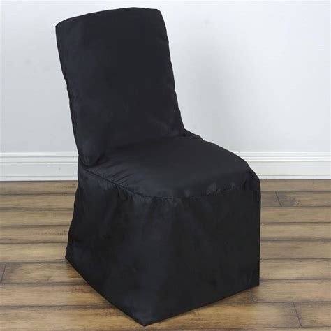 Cheap Black Chair Covers by Black Square Top Banquet Chair Cover Efavormart
