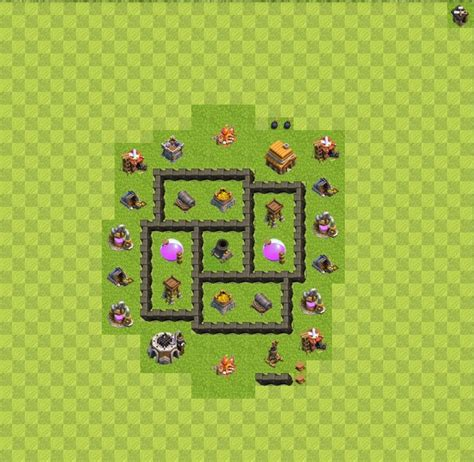 clash of clans layout strategy level 4 war map layouts clash of clans