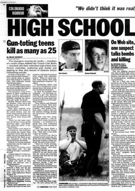 murder in the news an inside look at how television covers crime books two gunman opened inside columbine high school in