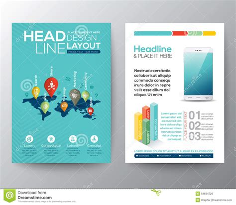 Social Network Concept Brochure Flyer Design Layout Template Stock Vector Image 51694729 Social Network Website Design Template