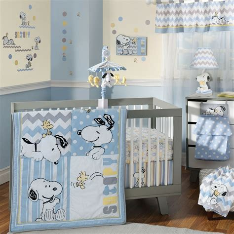 baby nursery bedding set lambs my snoopy 6 baby crib bedding set w bumper mobile ebay