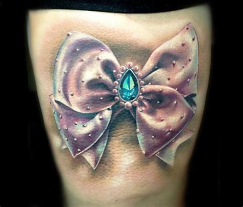 diamond tattoo and custom art bow knot with diamond tattoo by zsofia belteczky no 1083