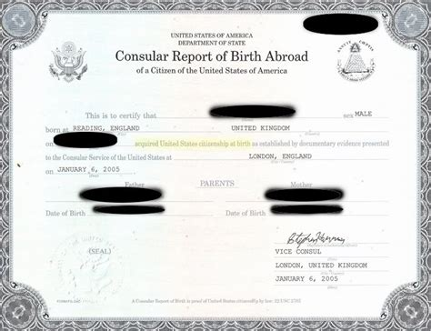 Consular Record Of Birth Abroad Www Thefogbow Driver Error