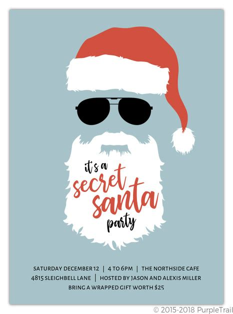 secret santa email template top secret santa invitation