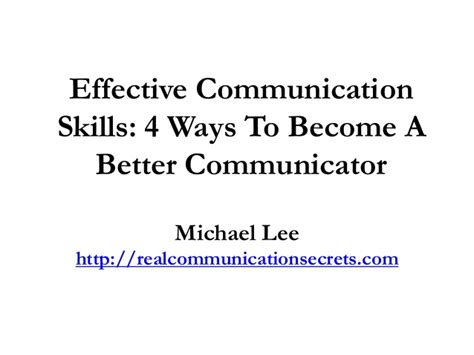 effective communication skills 4 ways to become a better