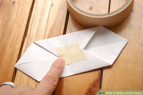 How To Make A Spear Out Of Paper - how to make a paper spear with pictures wikihow