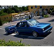 Blue VW Golf Mk1 Cabrio With Matching Trailer  Click For W&246