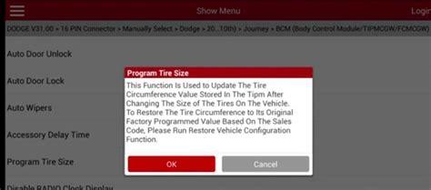 dodge joruney  body control system tire replacement
