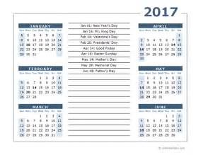 Calendar 1 Month Per Page 2017 Calendar Template 6 Months Per Page Free Printable