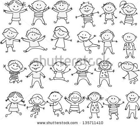 how to draw a doodle person happy kid doodle collection by dualororua via