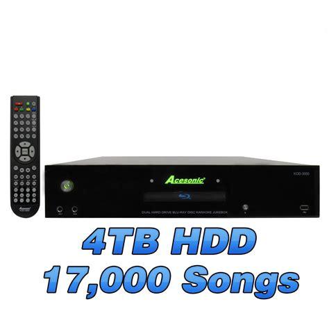 Hardisk Karaoke acesonic kod 3000 dual drive disc jukebox